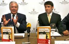 Mario Vargas Llosa y Antonio García Ángel