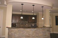 180-1025: Home Interior Photograph-Media Room - Bar