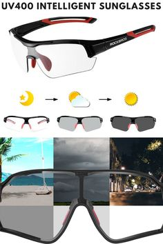 Intelligent lenses cycling sunglasses automatically lightens or darkens in response to UV intensity without needing to switch between glasses. Lots of styles and colors. FREE Worldwide Shipping available. Click through to buy now. #cycling #sunglasses #bikeriding #cycle #mountainbiking #roadbiking Cycling Sunglasses, Mtb Bicycle, Road Bike, Ultra Violet, Nike Logo, Mountain Biking, Buy Now, Skiing, Outdoor Products