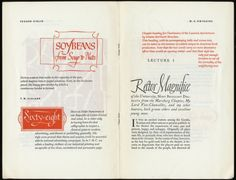 Sample work by Edgar Cirlin, T. M. Cleland, and W.A. Dwiggins, from Lettering & Calligraphy in Current Advertising and Publishing 1945 exhibition catalogue. Under the direction of George Salter and Paul Standard, via http://alphabettenthletter.blogspot.com/search/label/Paul%20Standard
