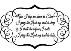 Now I Lay Me Down To Sleep I Pray The Lord by StellasVinylWallArt, $32.00