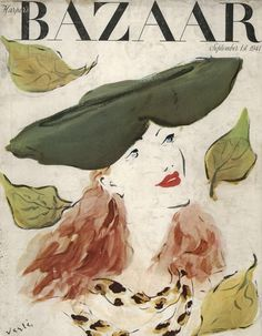 September 1941 #vintagebazaar #harpersbazaar #vintagecover