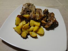 Roasted goat Meat with potatoes!