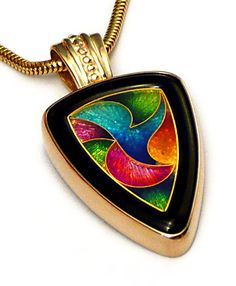 Enamel jewelry.  *I'D LOVE TO KNOW WHO CREATED THIS STUNNING PENDANT? IT'S SO BEAUTIFUL<3<3<3