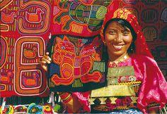 Las indias Kunas, autoras de las piezas (molas) , pertenecen a una población indígena considerada descendiente de los indios caribe  blog Hablemos de mujeres