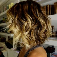 shot layered ombre hair style