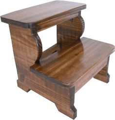 Kid's Unfinished Wooden Step Stool