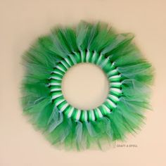 Craft A Spell: St. Patrick's Day Tulle Wreath