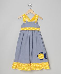 Take a look at this Blue & Yellow Fish Jumper - Infant & Girls by Stellybelly on #zulily today!$33.49
