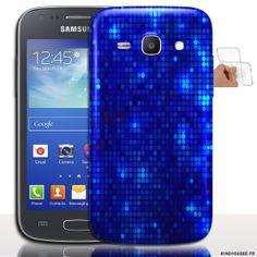 Housse souple Strass Bleu pour Samsung Galaxy Ace 4 - Housse silicone de protection antichocs. #etui #silicone #Ace4 #Strass