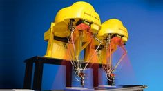 "As robots get smaller and get closer to doing the things that people can do,"" he said, ""I see robots and people getting closer in proximity as well. Fanuc m-1iA delta robot"