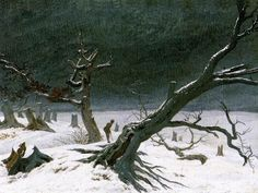 Caspar David Friedrich Art Reproduction - Winter Landscape, Oil Painting Reproduction of Friedrich Paintings Famous, Famous Artists, Caspar David Friedrich Paintings, Casper David, Franz Xaver Winterhalter, Painting Gallery, Art Gallery, Traditional Paintings, Traditional Art