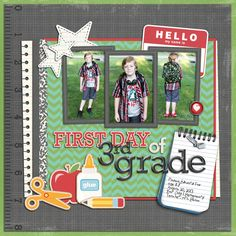 Great back to #school page by @Keela Clearwater Fox Clearwater Fox Clearwater Fox | Little Learner Kit from peppermintcreative.com