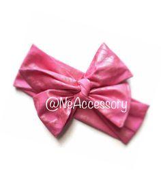 Bubblegum Pink Head wrap baby head wrap baby by NeAccessory