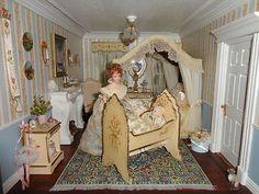 "Dollhouse House by Artist Bonnie Broel ""Lawbre Chateau"""