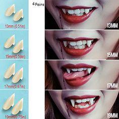 Bloodcurdling Vampire Werewolves Fangs Fake Dentures Teeth Costume Halloween  BS