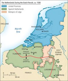 Dutch rebellion map
