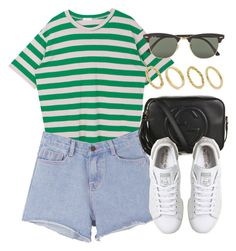 """""""Sin título #12746"""" by vany-alvarado ❤ liked on Polyvore featuring Pink Stitch, Gucci, adidas, Ray-Ban and Made"""
