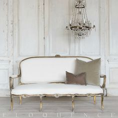Eloquence One of a Kind Vintage Louis XV Style Settee