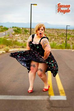 """#CurvysYouShouldKnow - #CYSK #Urbanthick - recognizes #curvy #blogger Jes M. Baker of The Militant Baker blog. Jes is a fiery body advocate, fat model, mental health professional, self-love enthusiast, professional rabble-rouser, & crazy cat lady. Jes uses her blog to talk about equality, baking recipes, body love, coffee talk, DIY, feminism rants, thrifting, notes about the hazardous journey of self acceptance, reasons why you should get a kitten, how to use marzipan, and empowerment. """"Let…"""