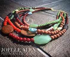 "The NEW @premierdesignsinc ""Mid-Mod"" necklace screams FALL with these gorgeous warm colors!!"