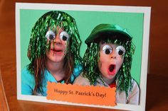 Silly St. Patrick's Day Card Idea w/Accessories from #Target Dollar Spot