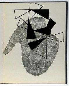 Jean (Hans) Arp with Sophie Taeuber-Arp. Die Engelsschrift. 1952.  (Print executed 1926).