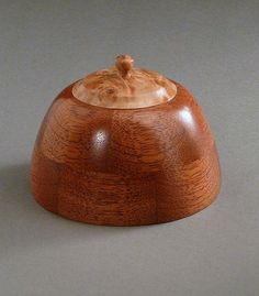 Segmented Mahogany & Bigleaf Maple Burl Box Timberturner + Bowlwood Woodturning: Treasure Boxes