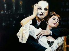 Tuval üzeri yaglıboya tablo (Operadaki hayalet) müzikalinden