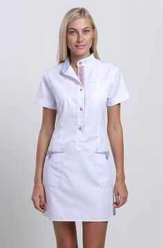 Dental Health Important Spa Uniform, Scrubs Uniform, Nursing Dress, Nursing Clothes, White Nurse Dress, Beauty Uniforms, Medical Uniforms, Medical Design, Costume