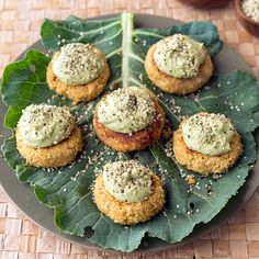 Serves 2Avocado Tahini Sauce:1/2 cup filtered water1 lime, juiced1 avocado, pitted1/4 cup raw tahini1/4 cup cilantroQuinoa Falafel:One 15-ounce can garbanzo beans, drained and rinsed1 onion, diced2 garlic cloves, minced1 tablespoon extra-virgin olive oil1/3 cup cooked white quinoa
