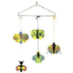 Paint Drop Butterfly Mobile Craft