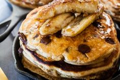This is the perfect pancake for peanut butter and chocolate lovers. If you want to make them extra special I recommend the pan-fried bananas.  From Meseidy Rivera of The Noshery.