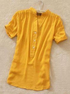 Camisa de Chiffon Varias Cores - Raylim Modas