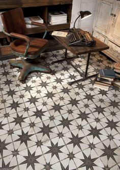 Granada Vintage Moroccan Encaustic Mosaic Pattern Black White Wall Floor Tiles…