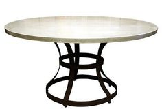 Round Concrete Dining Table - Mecox Gardens