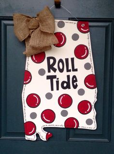 Alabama Bubble Wooden Door Hanger by SweetSophieJacks on Etsy  sc 1 st  Pinterest & Alabama Chevron Football Door Hanger by SweetSophieJacks on Etsy ... pezcame.com