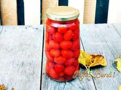 Pofta Buna! ~ cu Gina Bradea ~Rosii cherry in apa, pentru iarna Food And Drink, Vegetables, Drinks, Cooking, Ideas, Pasta Salad, Legumes, Preserves, Recipes