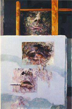 """Renzo Vespignani, """"Appunti per un autoritratto"""", 1967, olio, Roma, collezione privata."""
