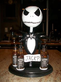 Jack Skellington shot glass holder by KDavidsonStudios on Etsy, $140.00