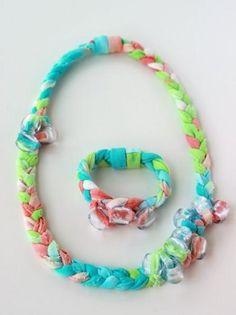 DIY Tie Dye Fabric Jewelry: DIY bracelet DIY necklace