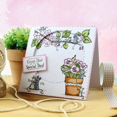 These sets perfectly co-ordinate with the stunning new collection Mice To Meet You to further expand your crafting potential! Watercolor Pencils, Watercolor Cards, Glue Crafts, Paper Crafts, Hunkydory Crafts, Birthday Sentiments, Luxury Card, Window Cards, Little Boxes