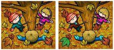Maestra de Primaria: Encuentra las diferencias. Dibujos a color. Diferencias en… Picture Puzzles Brain Teasers, Reto Mental, Spot The Difference Games, Hidden Pictures, Spanish Classroom, Speech And Language, Fun Games, Different, Perception