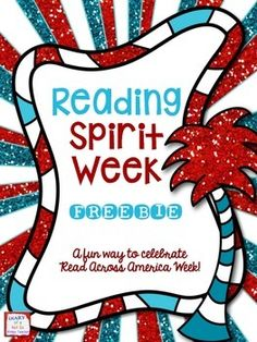 Enjoy a fun Dr. Seuss inspired spirit week to celebrate Read Across America Week.Send this free flier home to parents.