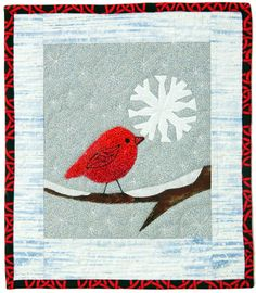So very sweet ~ free pattern ~  Tweety's Snowflake by Wendy Butler Berns at Quilters Newsletter