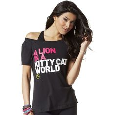 A Lion In A Kitty Cat World Tee | Zumba Fitness Shop #zumbawear