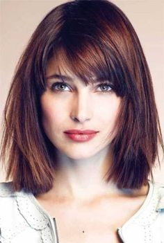 shoulder length hairstyles with bangs | Pictures of shoulder length haircuts with bangs
