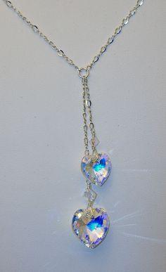Swarovski Crystal Heart Lariat by urbangracefashions on Etsy, $35.00
