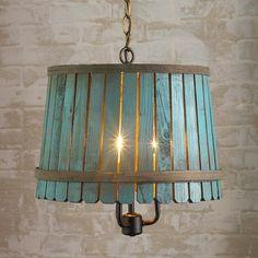 Bushel Basket Lantern - Blue