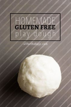 Easy homemade gluten free play dough
